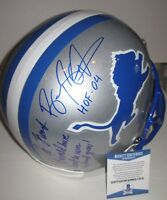 BARRY SANDERS Signed Full-Size ProLine LIONS Helmet w/ Beckett COA & Inscription