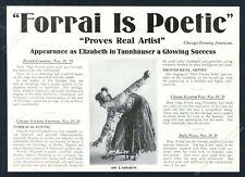 1925 Olga Forrai photo as Carmen opera singing recital promo trade print ad