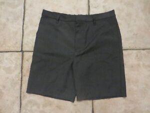 boy boys grey school uniform shorts age 11 years teflon new tags perfect crease
