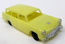 c. 1960 Blue-Box 7443 FORD STATION WAGON Hong Kong YELLOW plastic Matchbox Copy