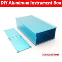 Aluminum Instrument Box Enclosure Electronic Project Case Blue