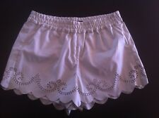 Ladies FRENCH CONNECTION Dress Shorts Size 8 Faux Leather White