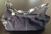 Kathy Van Zeeland Hand Bag Purse Black Cheetah Print Strap Silver Fittings