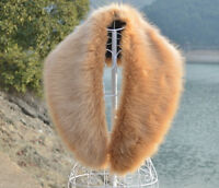 UK STOCK Large Winter Long Fur Collar Scarf Fashion Warm Stole 8044 L.BROWN