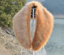 Reino Unido Stock Gran Invierno Largo Cuello De Piel bufanda moda cálido chal 8044 l.brown