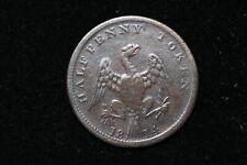 1814 LC Halfpenny Token. Spread Eagle. LC-54C1