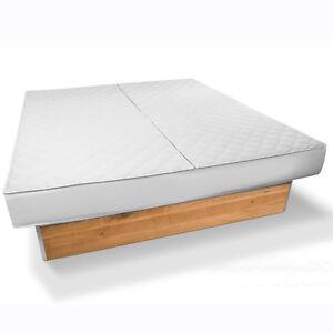 Wasserbett Auflage Universal- Matratzenbezug ohne Wasser ablassen installierbar