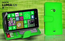 Green Side ID Wallet Leather Case Cover for Nokia Lumia 625 + Screen Guard