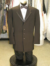 "VINTAGE MENS BLACK 4 BUTTON TUXEDO ""OSCAR DE LARENTA"" 4 PCS 50L #9"