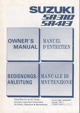 SUZUKI SA 310 / SA 413 Betriebsanleitung 1991 Manuel D´Entretien Swift BA