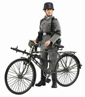 "Dragon 1/6 Scale 12"" WWII German MG Gunner Hubert Schreber & Bike Bicycle 70748"