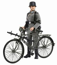 "Dragon 1/6 Scale 12"" WWII German MG Gunner Hubert Schreber & Bike Bicycle 70748"