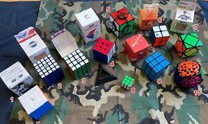 Twisty Puzzle Lot / 2x2, 3x3, 4x4, 5x5, Skewb, shape mods, gear ball