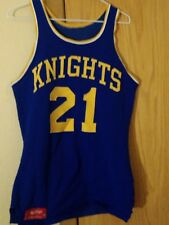 vintage dureen game worn KNIGHTS basketball jersey #21 early 1970's.