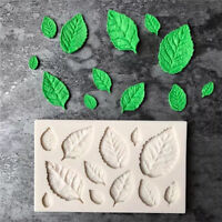 Silicone Rose Leaves Fondant Mould Cake Decor Sugarcraft Chocolate Mold 2017