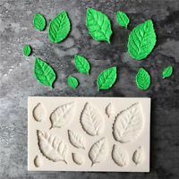 DIY Silicone Rose Leaves Fondant Mould Cake Decor Sugarcraft Chocolate Mold I2H4