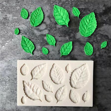 DIY Rose Leaves Embellisment Silicone Fondant Mould Cake Decor Chocolate Mold