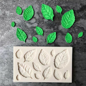 Silicone Rose Leaves Fondant Mould Cake Decor Sugarcraft Chocolate Mold Best
