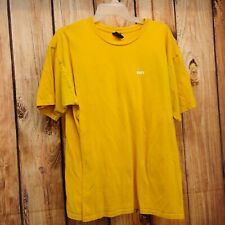 New PacSun x OBEY Mens Yellow Gold Classic Logo Graphic Tee T-Shirt Size Large