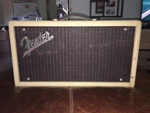 90s Fender '63 Reverb Unit Reissue Blonde Tolex