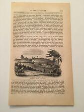 K41) Battleground Of Oriskany New York American Revolution 1860 Engraving
