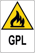 Tutte le Taglie e materiali MP35 GPL facilmente infiammabile Pericolo segnale adesivo