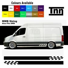Side Stripe Stickers Graphics Vinyl Decals For Volkswagen VW Crafter MWB SWB