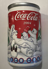 2004 Coca Cola Polar Bear Coke Can Canister Cookie Jar Ceramic ( Free Shipping)
