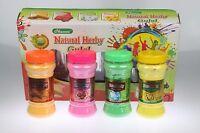 Herbal Holi Powder Colour Festival Throwing Powder Paint Parties BOX GIFT SET4pc