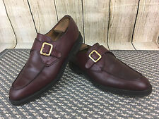 E.T. Wright Mens Brown Buckle Dress Shoes 10D Masters Collection England  Y28(8)