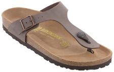 Birkenstock Gizeh in Mocca Nubuck (Art:043751) - Cork Sandals