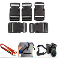 Black 10PCS Plastic Quick Curved Side Release Buckle For Webbing Strap Paracord