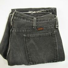 Vintage Rustler Black Jeans Men's Size 32x30 Frosted 1990's Classic Straight