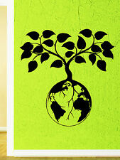 Wall Decal Tree Foliage Nature Planet Earth World Greens Vinyl Stickers (ed154)