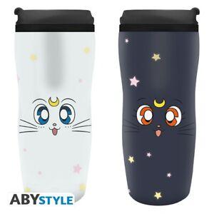 Water Bottle Thermos Sailor Moon & Artemis Tumbler Travel Mug ABYstyle