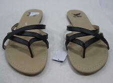 0986ea226ba Womens Summer Black Flat Slip On Sexy Sandals Size 6