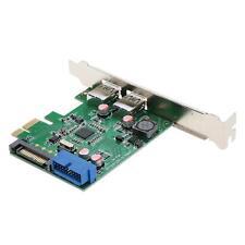 USB 3.0 2-port 19-pin Header PCI-E Card 15-pin SATA Power Connector Low Profile