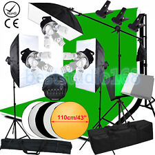 3375W Photo Studio Continuous Lighting kit Softbox Boom arm 4 Background & Stand