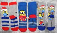 3 Pair Minions Socks Despicable Me Kids Children
