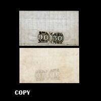 Brazil to Portugal 1843 Cover Two Bull's-Eye 30r # 1b& 90r #3b,$77,500 Copy
