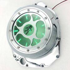 Green LED See Through Engine Clutch Cover For Suzuki Gsx1300R Hayabusa Chrome