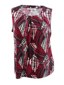 Ladies Kasper 'St Moritz' sleeveless shirt blouse, UK 22/24 USA 2XL