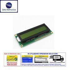 DISPLAY LCD 16x2 1602 VERDE HD44780 MODULO PER ARDUINO RETROILLUMINATO A LED