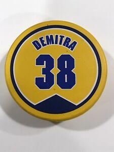 Pavol Demitra 38 St. Louis Blues Jersey NHL Souvenir Fotopuck Yellow Puck Rare