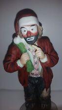 Flambro Emmett Kelly Jr Clown Figurine Santa 8 inch tall Hobo Vintage Rare Excel