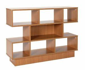Habitat Cubes 2 Shelf Wide Bookcase - Oak Effect