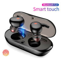 TWS Bluetooth 5.0 Wireless Earphones Stereo Headset Mini In-Ear For Android IOS