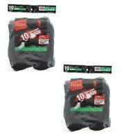 20 Pairs Hanes Boys Durable Heel & Toe Comfort Seam Cushion Ankle Socks