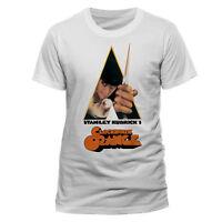 Official Clockwork Orange Knife Movie Poster T Shirt White NEW Stanley Kubrick