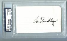 "Vin Scully Signed 3x5"" Cut PSA/DNA Certified Autograph Slabbed LA Dodgers HOF"